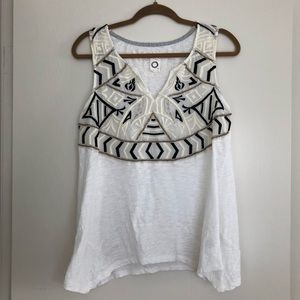 Beaded & Embroidered Anthropologie Top Akemi + Kin